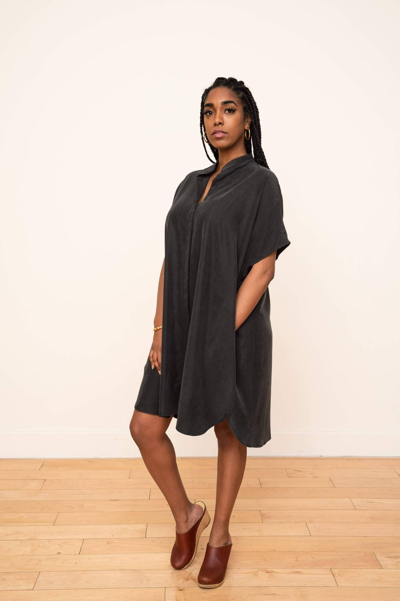 Sustainable cupro dress