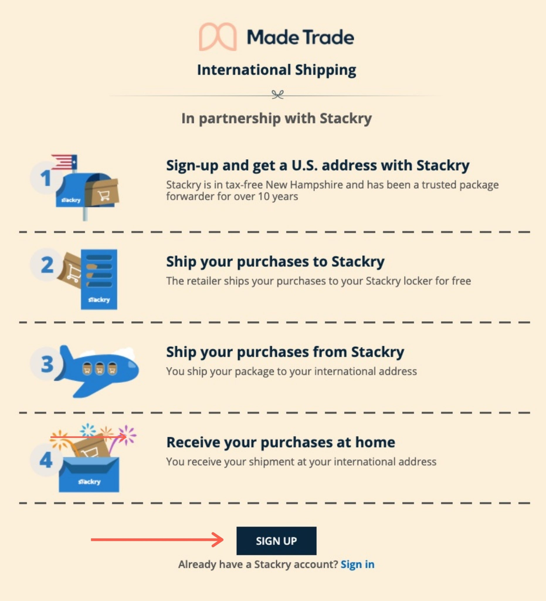 International Shipping with Stackry