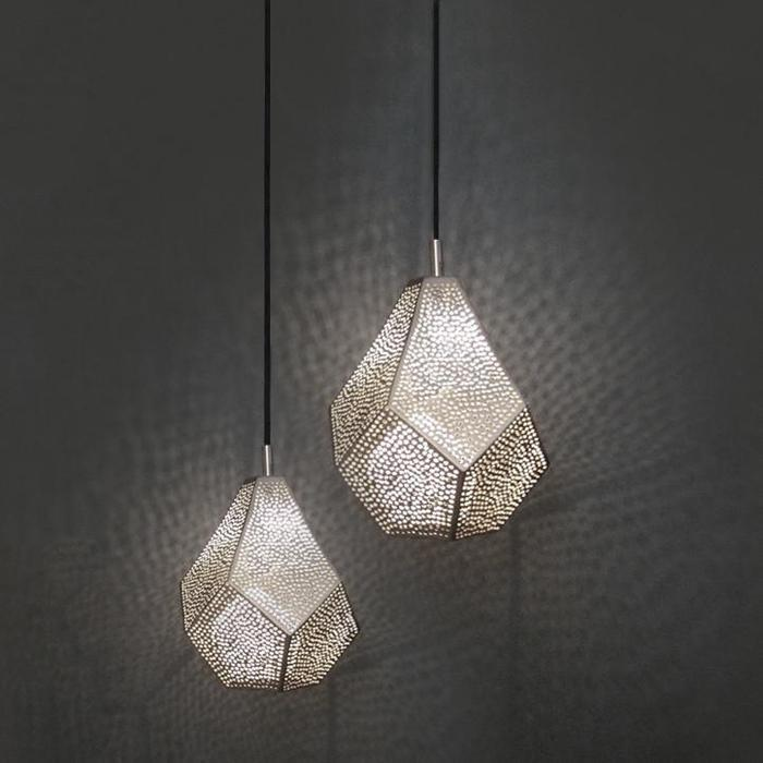 Ethical eco-friendly pendant light silver