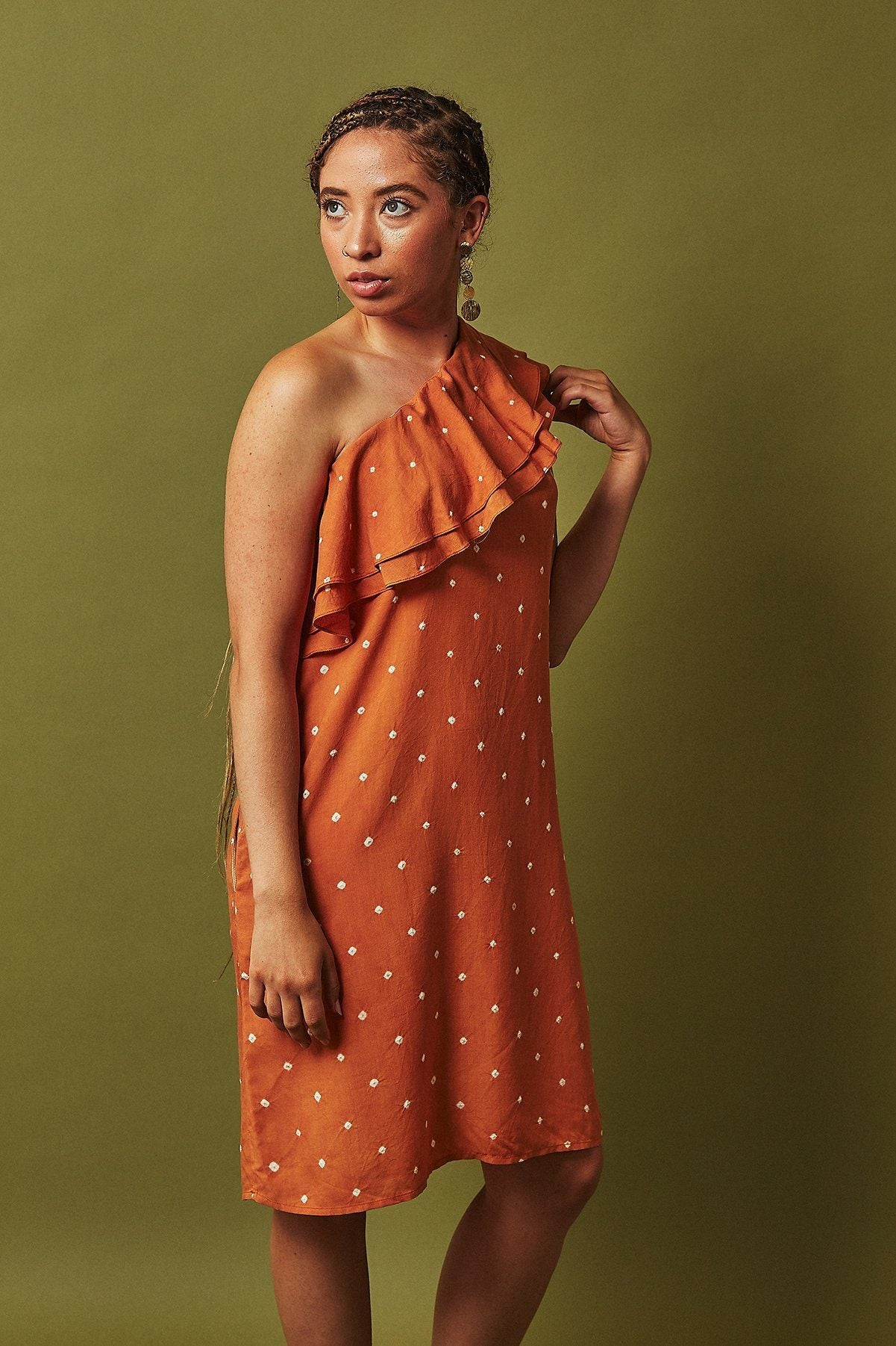 Sustainable dress made from banana fabric