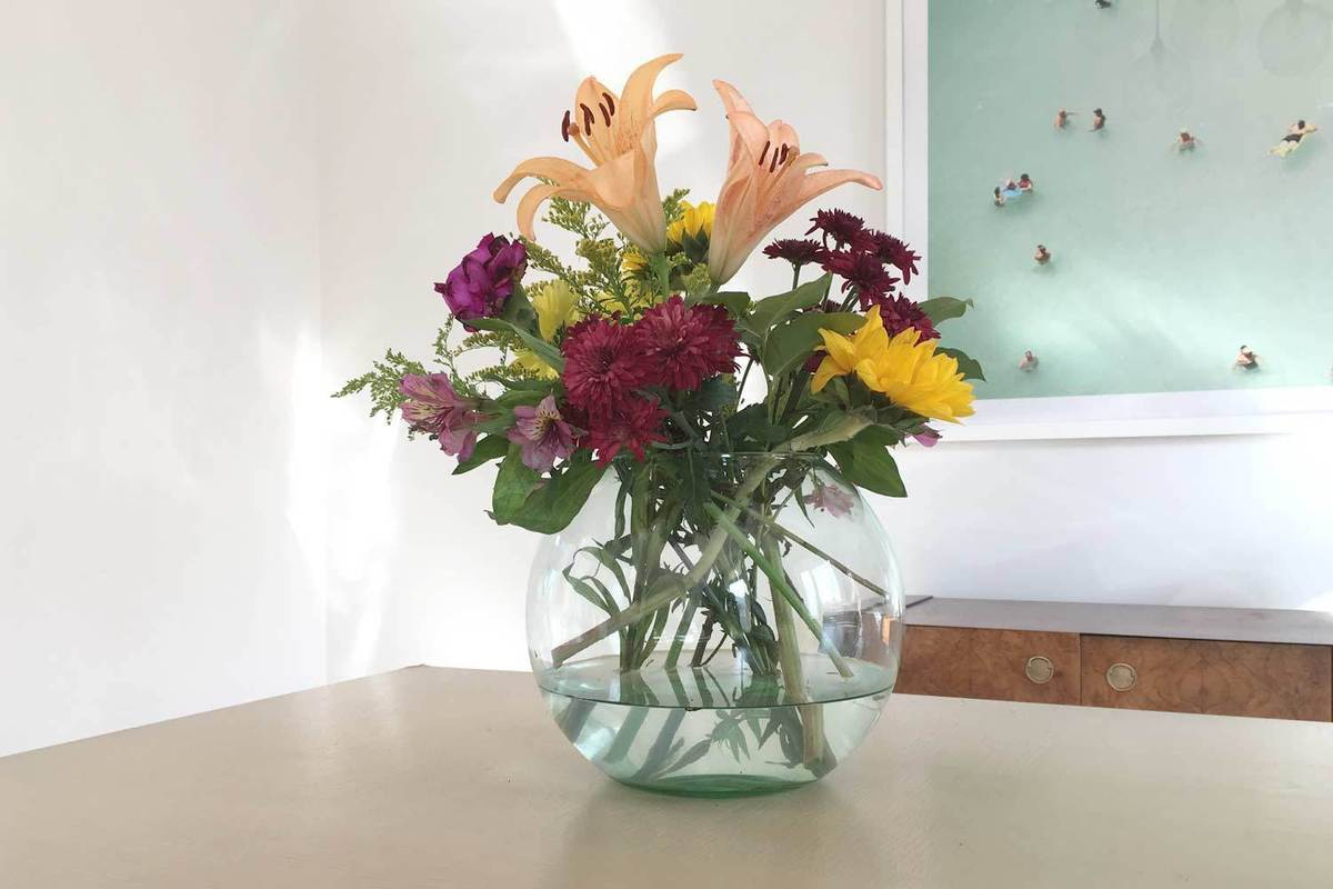 Sustainable Newly vase made from recycled glass