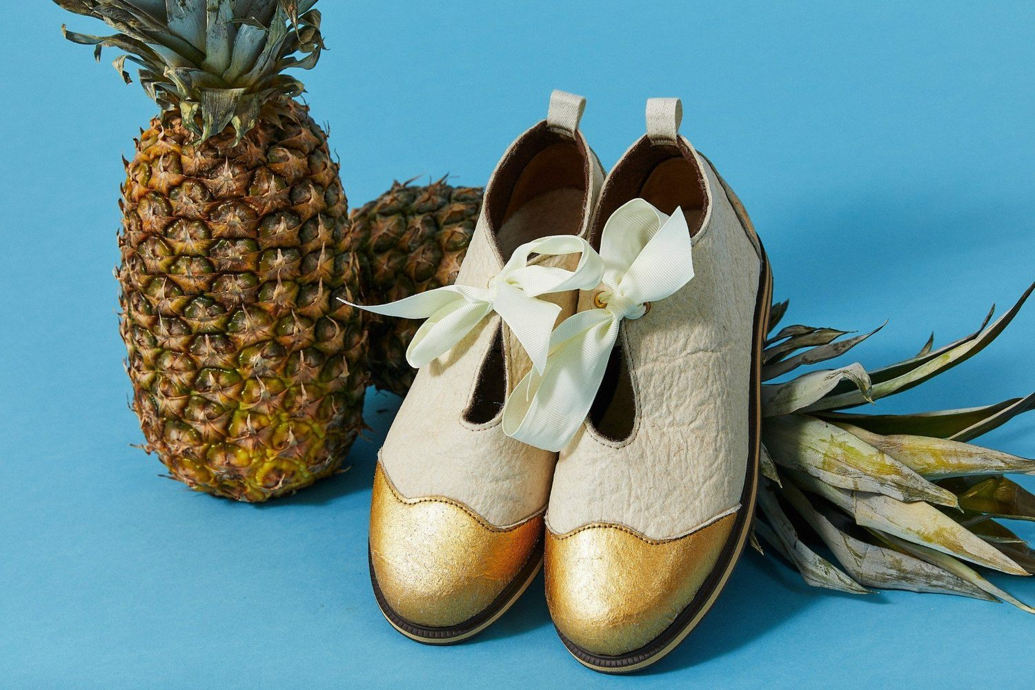 Tooche pineapple leather pinatex vegan shoes