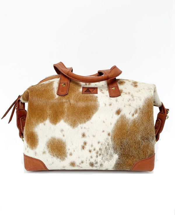 Abby Alley Ellen Handbag, Chestnut Cow Hair Abby Alley