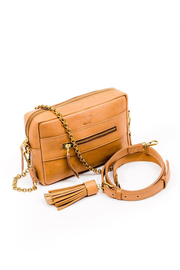 Abby Alley Essential Crossbody Bag, Tan Abby Alley