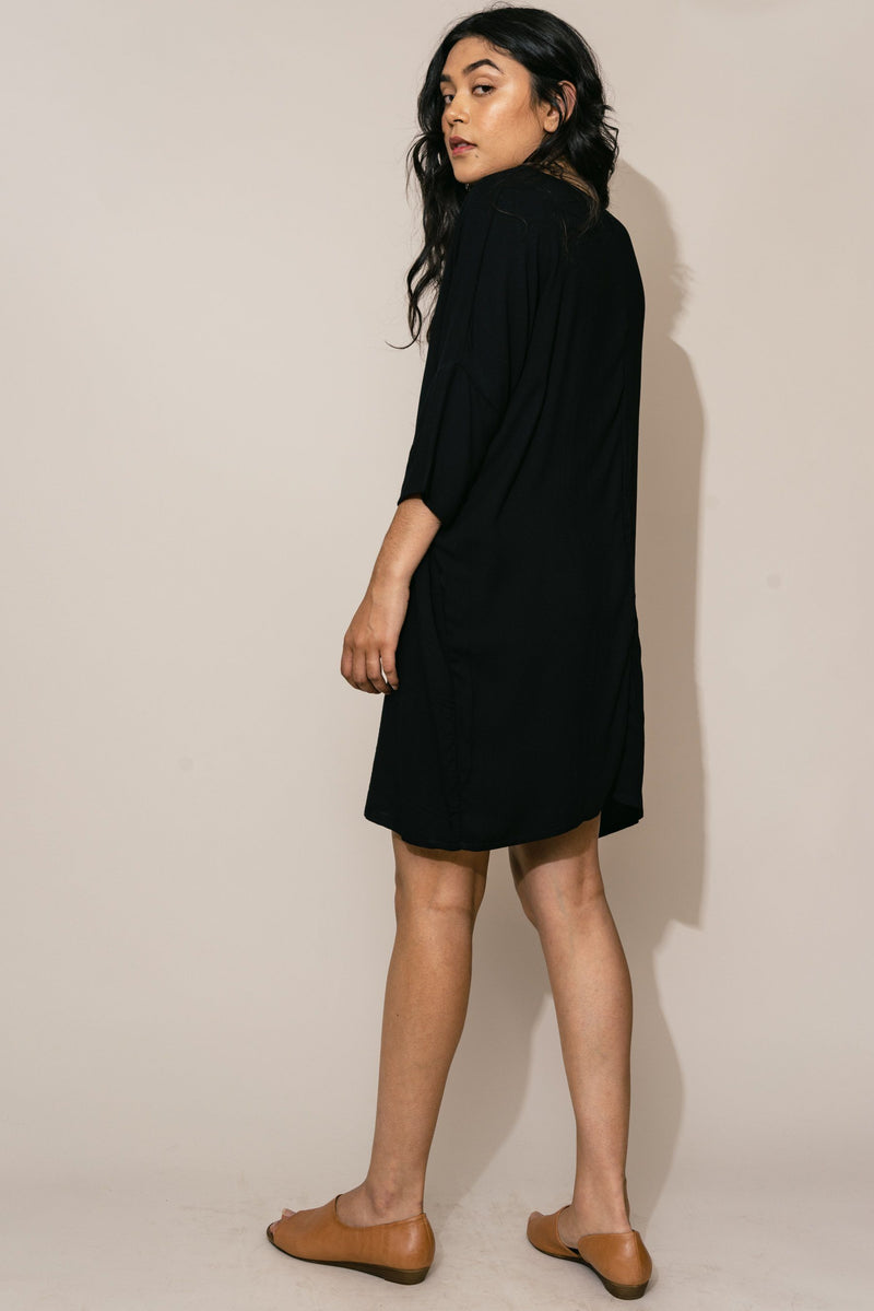 Altar Black Woven Batwing Dress Clothing Altar