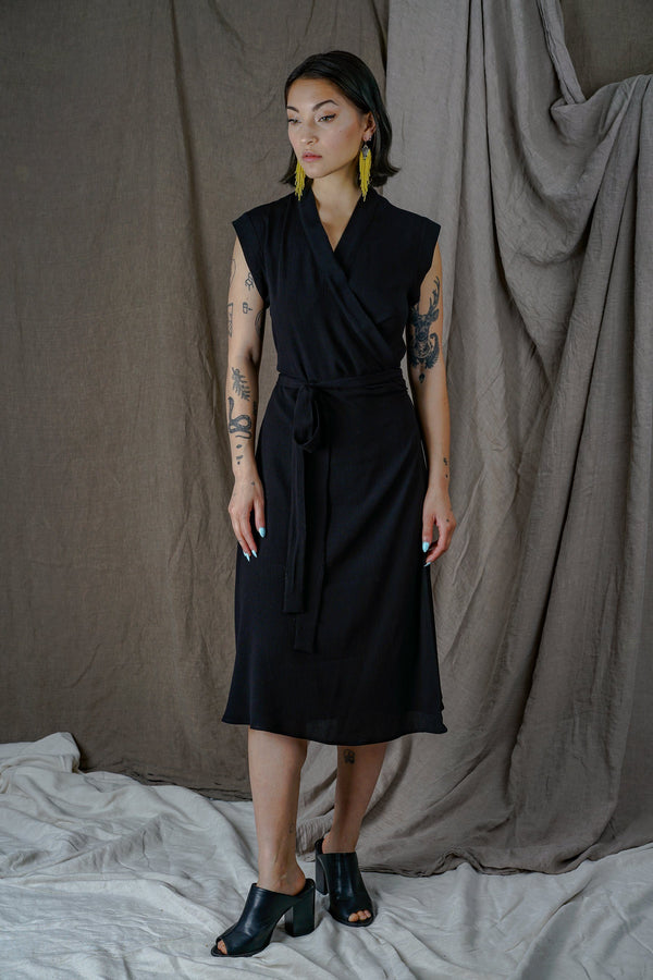 Altar Black Wrap Dress + Apparel Altar