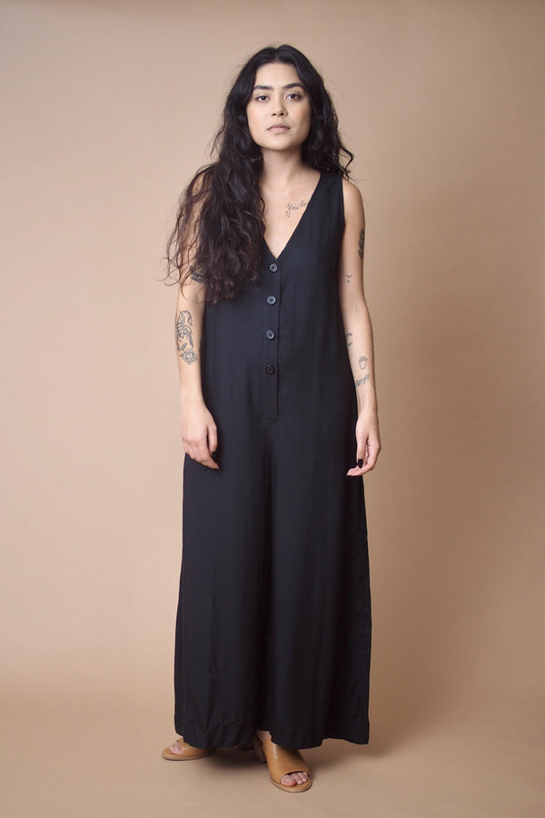 Altar Button Down Wide Leg Jumpsuit Apparel Altar