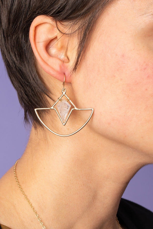Altar Crystal Amulet Earrings Jewelry Altar