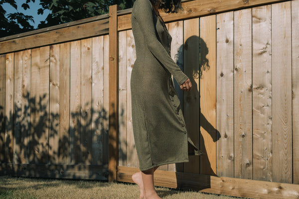 Altar Ila Dress in Gilded Olive Apparel Altar