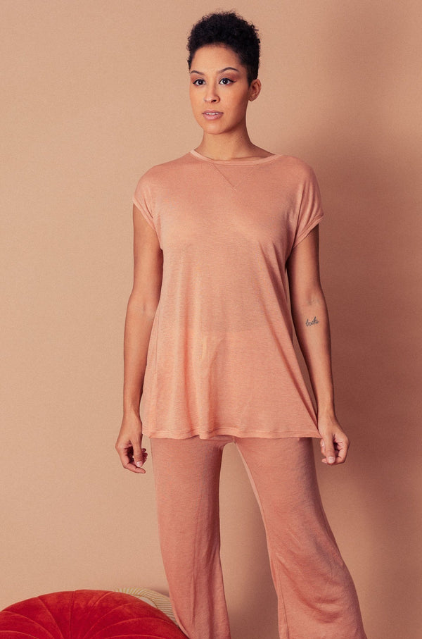 Altar Ronnie Lounge Top in Blush Apparel Altar
