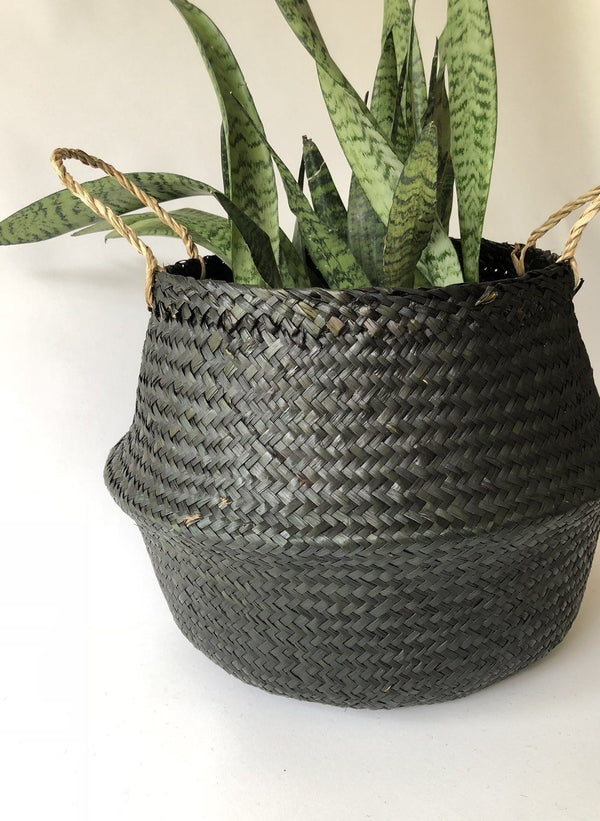 Amante Kophinos Basket - Black Home Decor Amante Marketplace