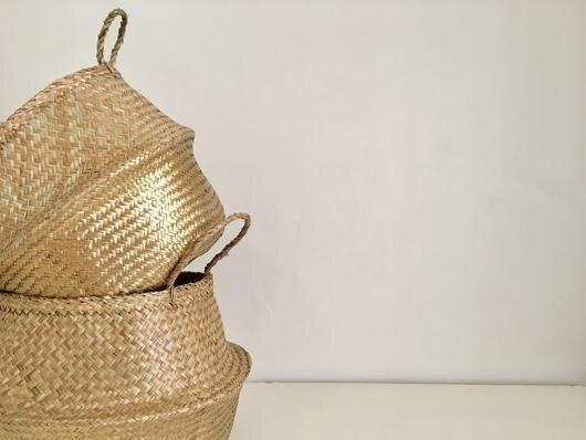 Amante Kophinos Basket - Gold Home Decor Amante Marketplace