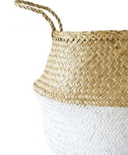 Amante Kophinos Basket - White Dipped Home Decor Amante Marketplace