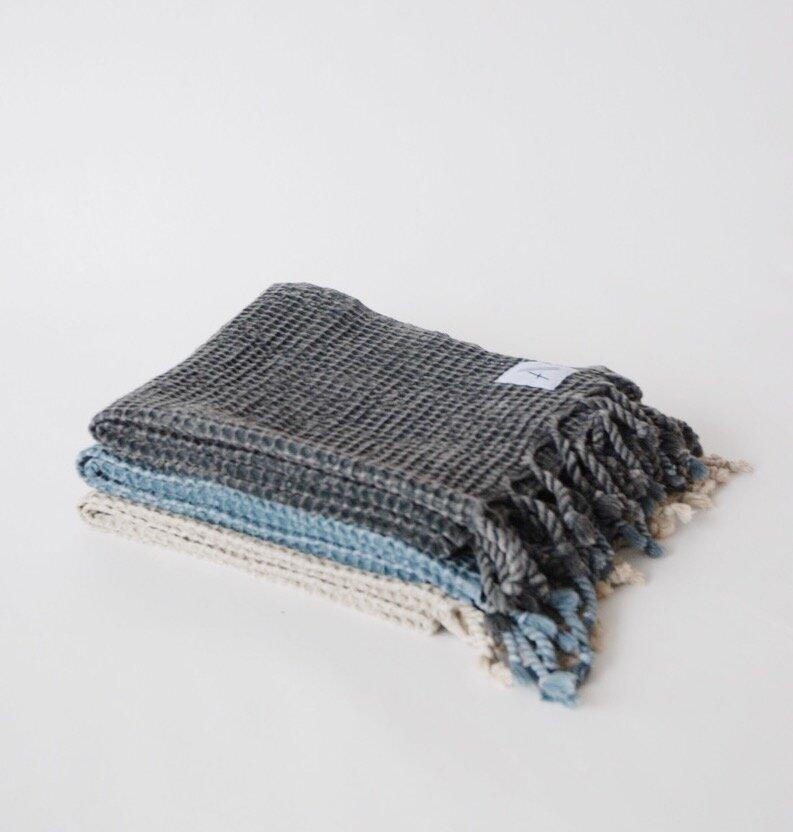 Amante Meraki Turkish Hand Towel - Denim Bedding and Bath Amante Marketplace