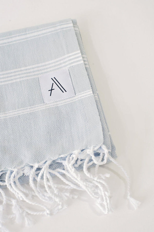 Amante Teleios Turkish Hand Towel - Gray Bedding and Bath Amante Marketplace