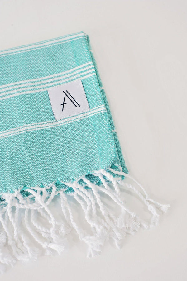 Amante Teleios Turkish Hand Towel - Mint Bedding and Bath Amante Marketplace
