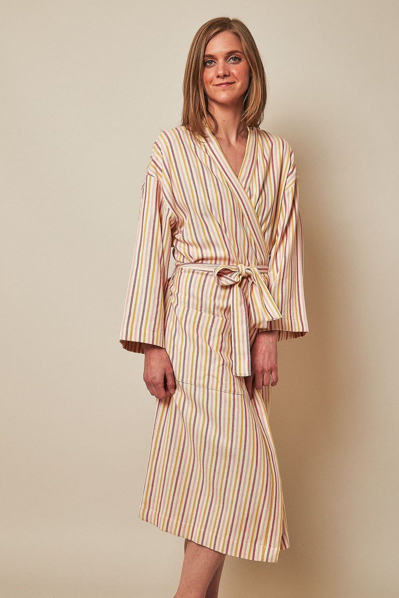 Anatoli Co Boho Stripes Handwoven Robe Robe Anatoli Co