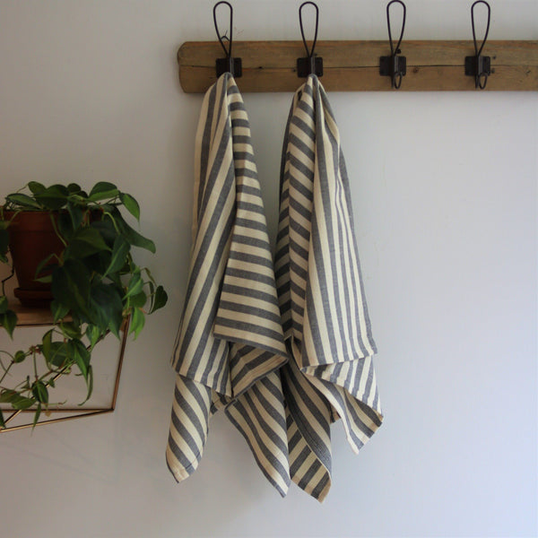 Anatoli Co GRAY Kitchen or Hand towel Turkish Towels Anatoli Co