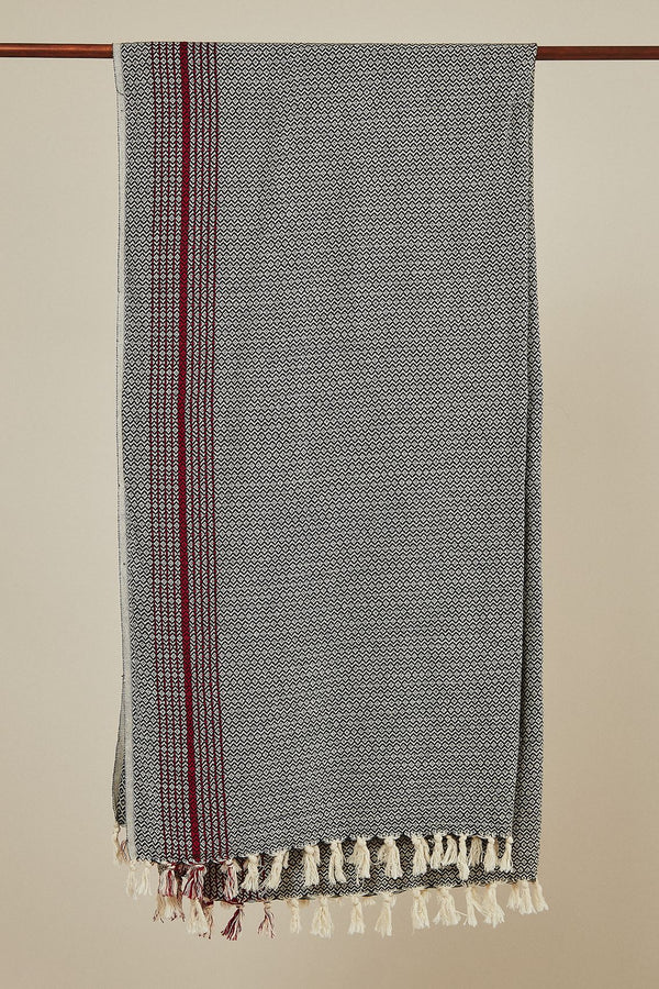 Anatoli Co Matia Handwoven Blanket Scarf Gray Throw Anatoli Co