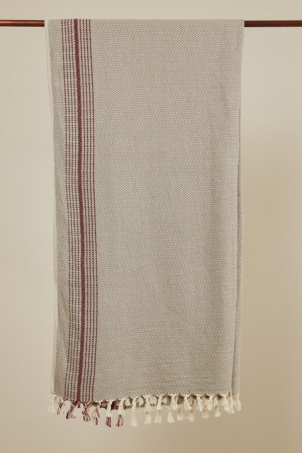 Anatoli Co Matia Handwoven Blanket/Scarf in Beige Throw Anatoli Co