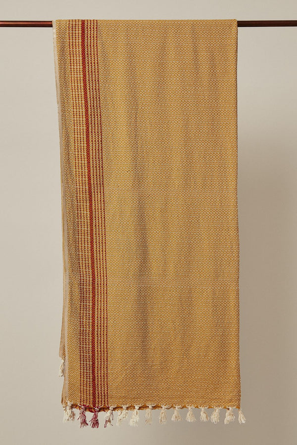 Anatoli Co Matia Handwoven Blanket/Scarf - Mustard Throw Anatoli Co