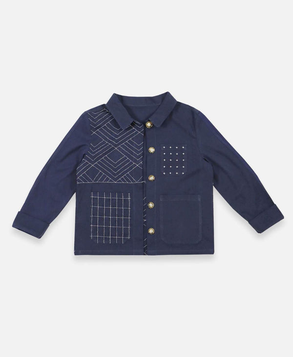 Anchal Chore Jacket - Navy Anchal Project