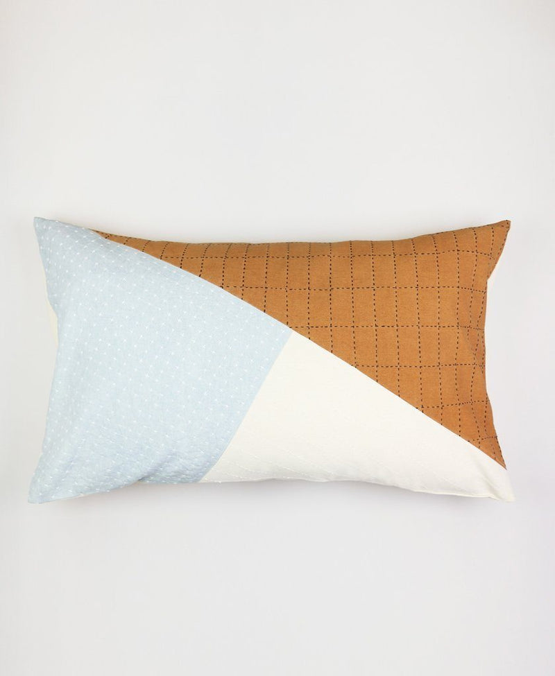 Anchal Color Block Naari Lumbar Pillow Anchal Project
