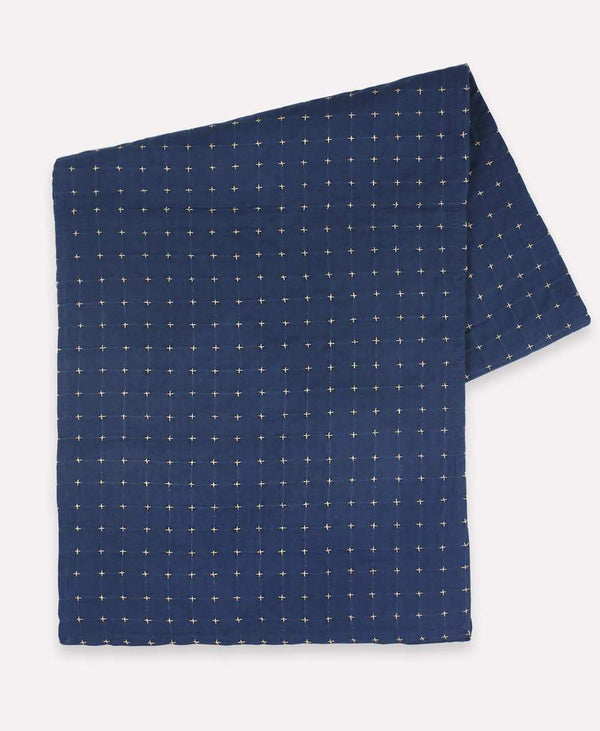 Anchal Cross-Stitch Table Runner Navy Anchal Project