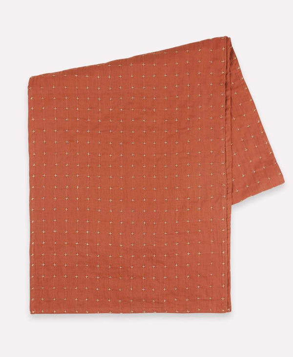 Anchal Cross-Stitch Table Runner- Rust Anchal Project