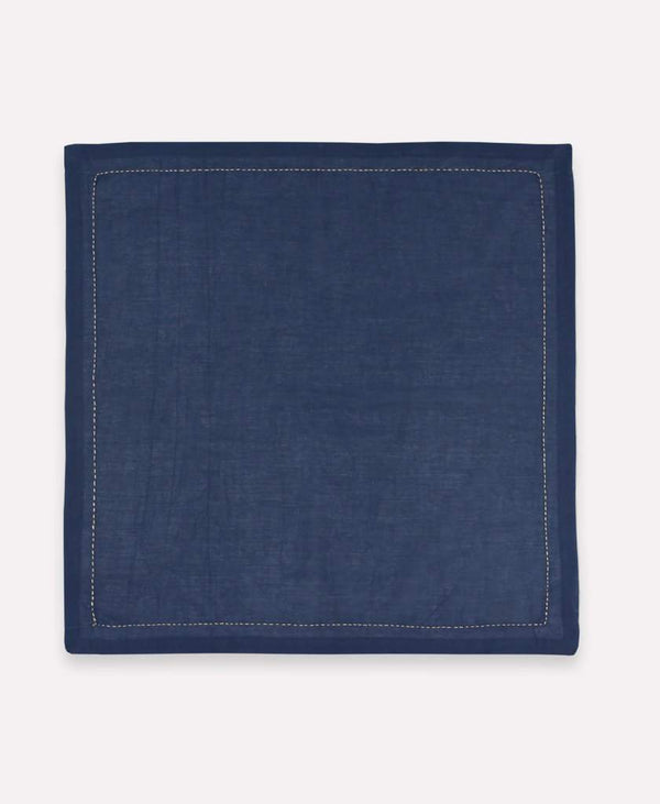 Anchal Embroidered Napkin Set- Navy Anchal Project
