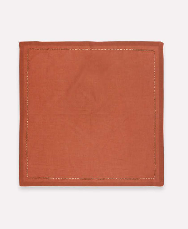 Anchal Embroidered Napkin Set- Rust Anchal Project