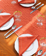 Anchal Embroidered Napkin Set- Rust Anchal Project-5010648170559
