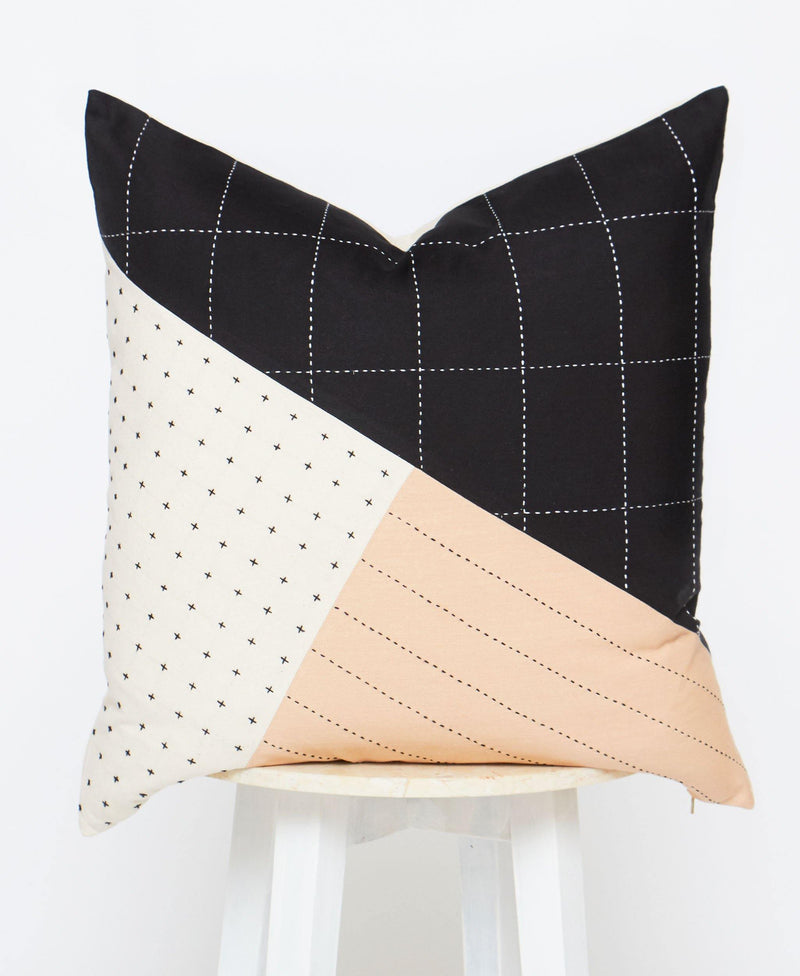 Anchal Large Saral Colorblock Throw Pillow Anchal Project