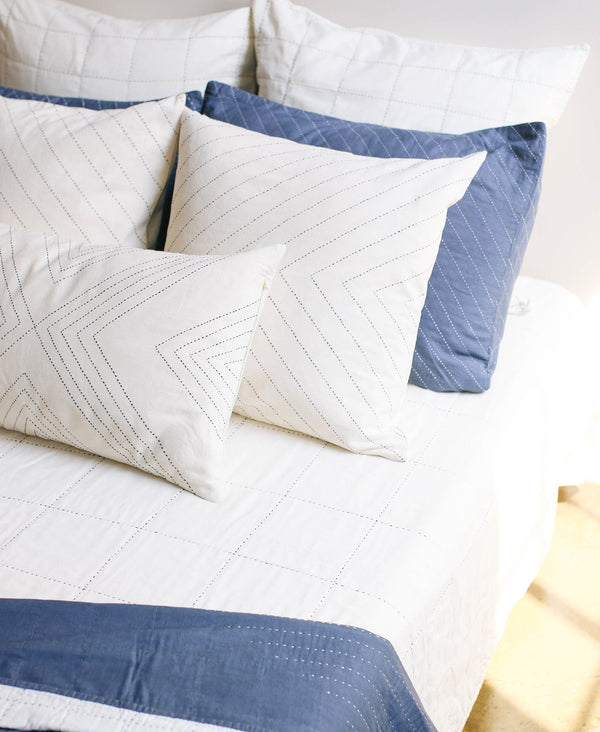 "Anchal Project 22"" Embroidered Arrow Toss Pillow - Bone Anchal Project"