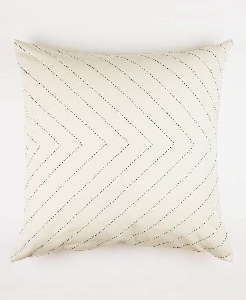 "Anchal Project 22"" Embroidered Arrow Toss Pillow - Bone Anchal Project Pillow Cover"