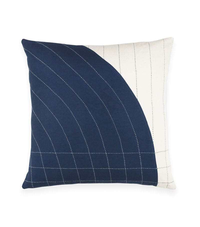 "Anchal Project 22"" Navy Curve Toss Pillow Anchal Project Pillow Cover"