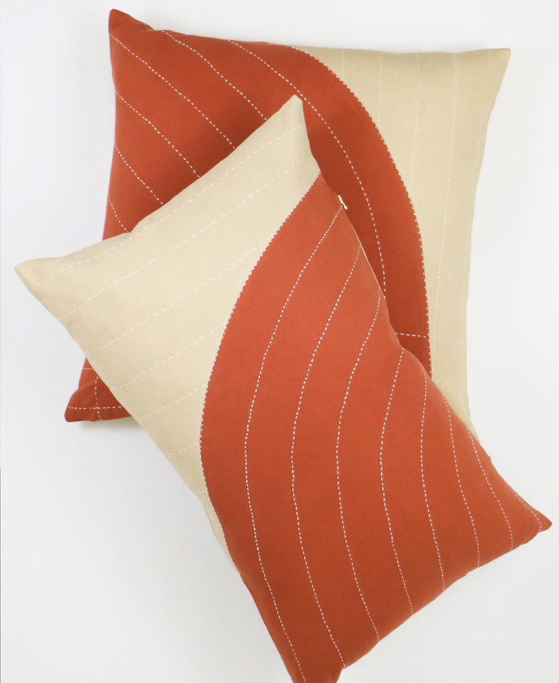 "Anchal Project 22"" Rust Curve Toss Pillow Anchal Project"