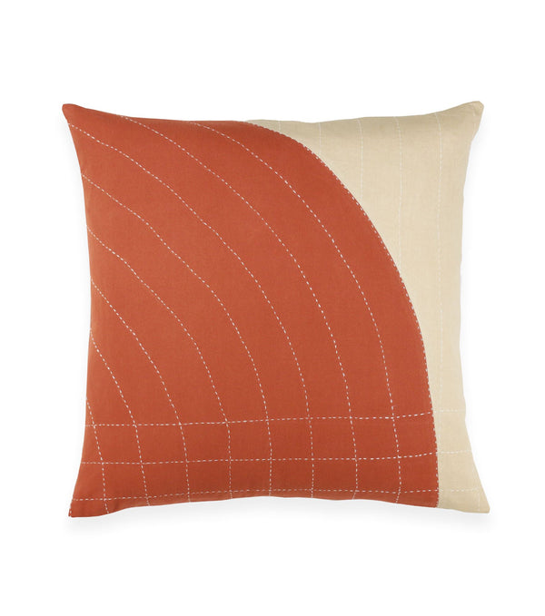 "Anchal Project 22"" Rust Curve Toss Pillow Anchal Project Pillow Cover"