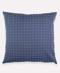 "Anchal Project 22"" Slate Cross-Stitch Embroidered Toss Pillow Anchal Project Pillow Cover"