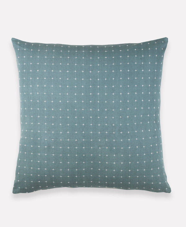 "Anchal Project 22"" Spruce Cross-Stitch Embroidered Toss Pillow Anchal Project Pillow Cover"