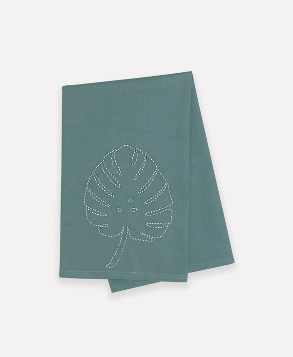 Anchal Project Botanical Tea Towel - Monstera Anchal Project Spruce