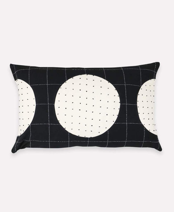 Anchal Project Charcoal Lunar Dot Lumbar Pillow Anchal Project