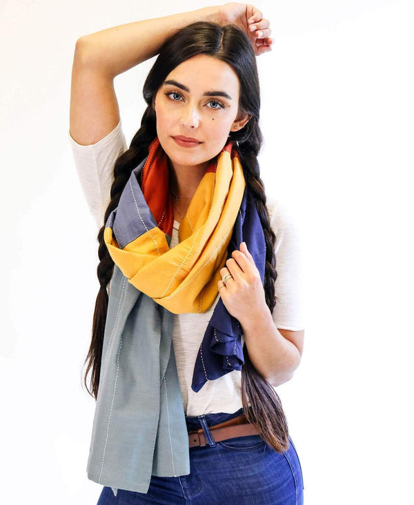 Anchal Project Colorblock Scarf - Rainbow Accessories Anchal Project