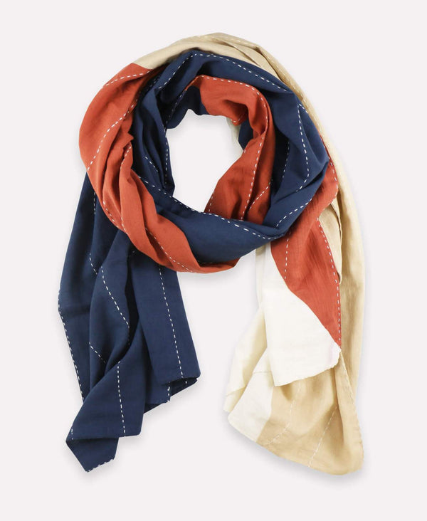 Anchal Project Colorblock Scarf - Rust Accessories Anchal Project