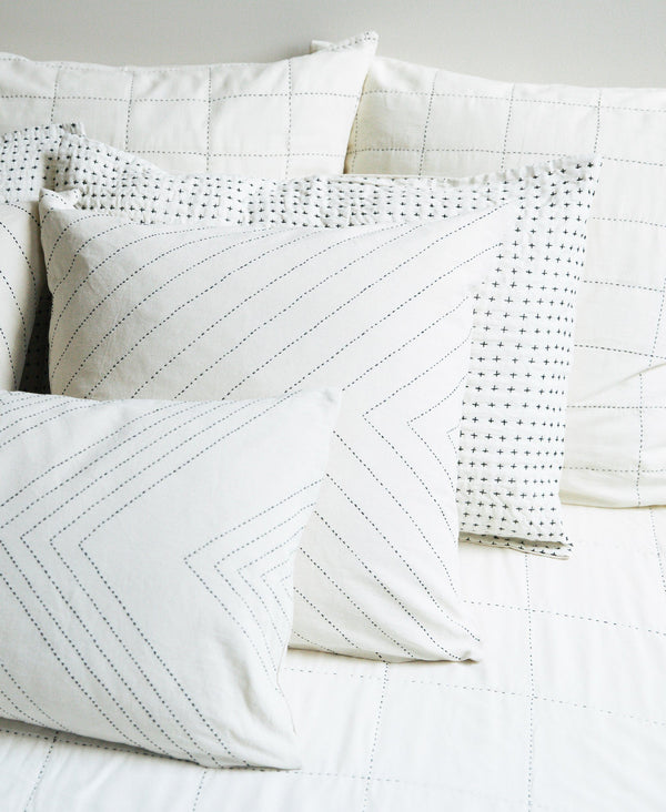 Anchal Project Cross-Stitch Embroidered Sham Anchal Project