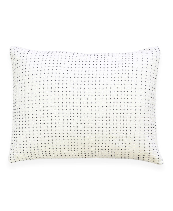Anchal Project Cross-Stitch Embroidered Sham Anchal Project Pillow Cover