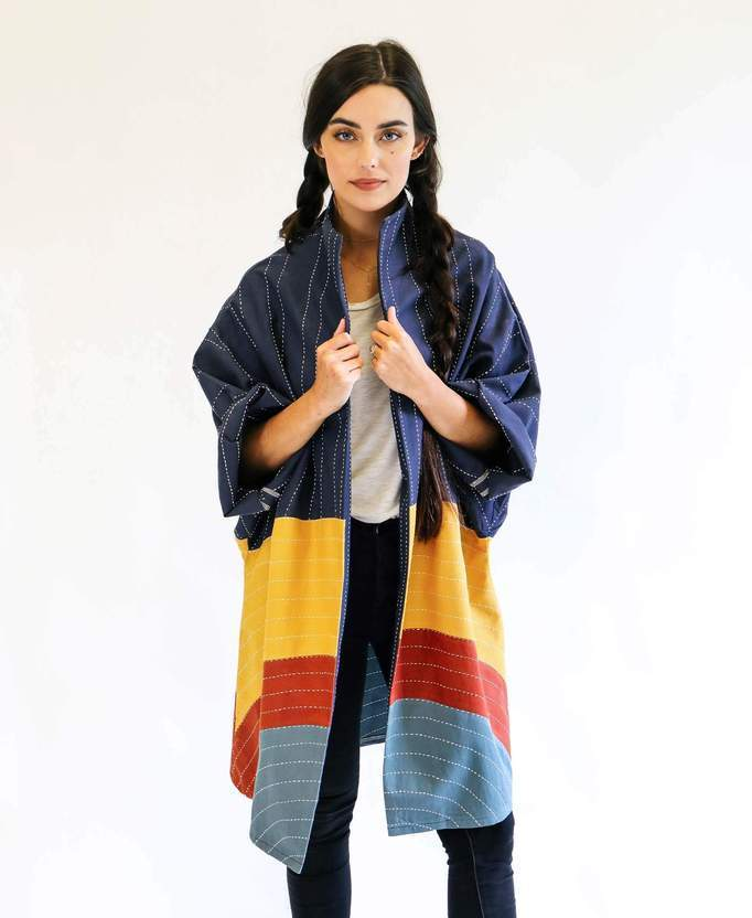 Anchal Project Eclipse Cocoon Jacket - Rainbow Anchal Project