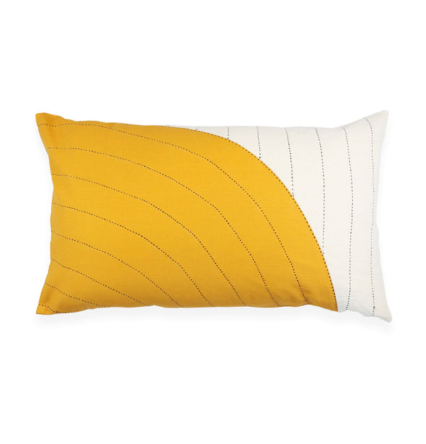 Anchal Project Gold Curve Lumbar Pillow Anchal Project Pillow Cover