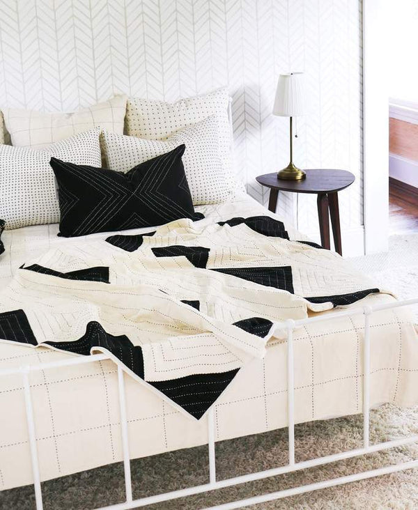 Anchal Project Grid Quilt Bedding Anchal Project