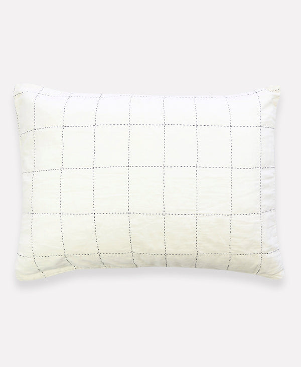 Anchal Project Grid Stitch Sham Anchal Project Pillow Cover